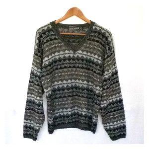 Vintage David Taylor Tribal Print Grandpa Sweater